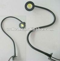 5W 12v/24v flexible hose industrial lamps/flexible metal gooseneck hose led lamps/gooseneck