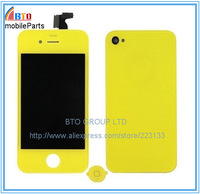 Yellow Color LCD Touch Screen Digitizer Assembly for iPhone 4 4G Free Shipping