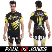 Free Shipping!Wholesale Price!PJ Men's Riding Breathable Sports Outdoor Short Sleeve Cycling Jersey + Pants  XS,S,M,L,XL QX06