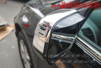 Free shipping! Side rearview mirror sun rain guard shield deflector visor with logo for Honda CRV 2007 2008 2009 2010 2011