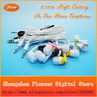Hot Sell 100pcs/lot Newest Fashion High Quality 3.5mm In-Ear Earphone Headphone For MP3 MP4