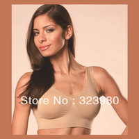 Genie sport seamless Bra women with lace and pad Tops shaper for women
