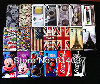 Sample Retail Various Style Eiffel Tower Flag tape Hard Back Cover Skin Case For LG Optimus L9 P760 P765