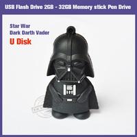 FREE SHIPPING!! Star War Dark Darth Vader Memory stick Pen Drive 2GB 4GB 8GB 16GB 32GB USB Flash Drive U Disk
