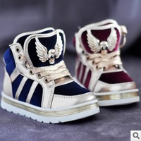Children shoes pleuche child medium cut boots skull male female child high skateboarding shoes autumn and winter