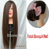 Hot Sale Cosmetology Mannequin Training Head with Brown Wig with Table Clamp Holder