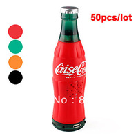 4 Colors Choice Portable Digital Strong Bass Remote Control Cola Speaker 50pcs/lot