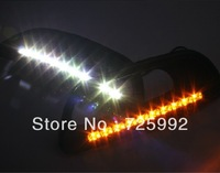 New arrival Car-special LED DRL daytime running light for Fiat Viaggio with yellow light flicker turn signals fast free shipping