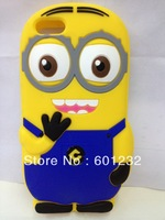 Wholesale Cartoon Despicable Me minions 3d silicon case for apple iphone 5c 200pcs/lot  free shipping by dhl