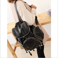 printing backpack 2013 double zipper for a backpack women's handbag preppy style bag  mochilas