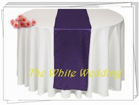 Purple Table Tunners  Satin Table Runners FOR Wedding Purple Party Decoration FREE SHIPPING