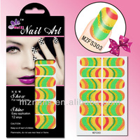 Trendy Nail Art Stickers Foils Non-toxic Nail Wraps Care,  #MZFS301-304