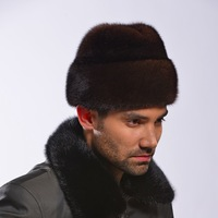 Marten hat winter mink hair hat president cap 13 fur hat Men winter