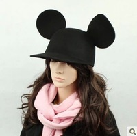 2013 new fshion autumn winter wool miky mouse ears hats baseball cap trilby for Halloween christmas party girls women 130923