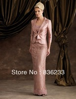 Decent Free Elbow Jacket Bolero Sheath Spaghetti Strap Custom Skirt Lace Beads Mother Of The Bride Dresses