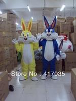 1Pcs Free Shipping to Blue Yellow Bugs Bunny cartoon costume, walking doll clothing, performance costumes, cartoon costume