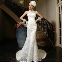 Mermaid Wedding dress 2014 New Sexy Romantic Fashionable Vestidos De Novia Vintage Lace Wedding Dresses Plus Size Bridal Gown