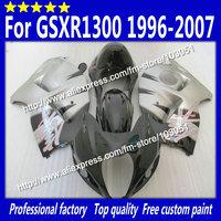Hayabusa Body work for 1996-2007 SUZUKI GSXR 1300 fairing GSXR 1300 fairings 96-07 glossy silver black with 7 gifts si33