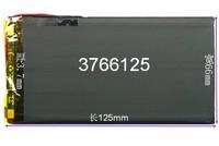 3766125 polymer tablet lithium battery 3.7v belt 4500mah v811v801 battery