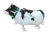 10PCS\LOT High Quality Cow Aluminum Foil Balloons Walking Pet Balloon Inflatables Gift