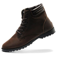 Winter fashion male casual shoes thermal nubuck leather male shoes martin shoes leather