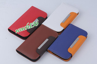 50pcs/lot Leather Wallet Flip Pouch Stand Case Cover For Samsung Galaxy S3 i9300 PU leather case with Card Holder Free shipping