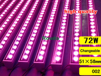 72w outdoor dmx led wall washer light taiwan led chips Epistar 120-140lm/led high quality 10pcs/lot dmx wall washer