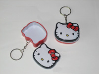 Cute Hello Kitty Candy Box Candy Can for Wedding Hello Kitty Tin Box Packaging with Keyring