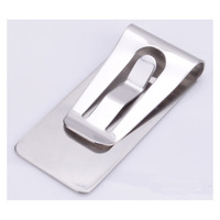 New Popular Stainless Steel Hollow out Money Cash Clip Clamp Holder For Pocket Sleek Style