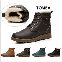 2013 new men winter boots lacing round toe cap boots for men high quality male shoes free shipping XMX040