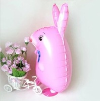 High Quality Pink Mouse Animal Aluminum Balloons Walking Pet Foil Balloon 3D Style Helium Balloon