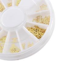 1 PCS Nail Art Gold Tip Metal Slice Tiny Sticker Decoration Acrylic Mixed Vintage Promotion!