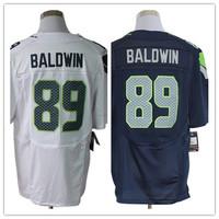 2013 new Men 89 Doug Baldwin blue white elite  American football Jersey,Cheap mens Sports Jersey,Embroidery logos,Mix order