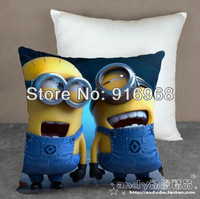 New Arrival  top selling Despicable Me logo Milk Bolster Capsule Small Pillow Soya Bean Minion doll soft plushed Cushion
