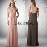 2013 New Arrival Formal Gown Straps Sweetheart Neck Chiffon Long Floor Length Pink Empire Waist Evening Dresses Free Shipping