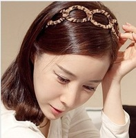 Beautiful DIY 120pcs/lot Leopard HeadBand Headwear Hollow Hair Band hair accessory