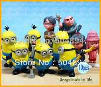 Newest Despicable Me 2 Movie cute figures PVC Dolls Toy Set of 10Pcs New