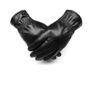 Free shipping 2013 new men's leather gloves, leather gloves, thick velvet warm winter motorcycle gloves