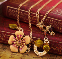 free shipping Fashionable women necklace restoring ancient ways crystal cross