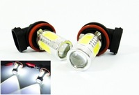 FreeShipping New H11 11W High Power 11W LED 12v-24v Cree White HeadLight LED H1/H3/H4/H7/H8/H9/10/H11/H16 11W 2pcs/lot