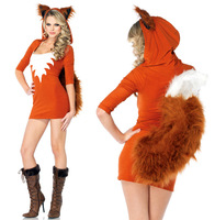 Free Shipping 2013 New  Small Fox  Style Sexy Club Wear Hot Part Night Wear Cosplay Custumes