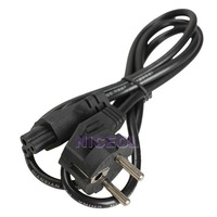 NI5L 1M EU 3 Prong 2 Pin AC Laptop Power Cord Adapter Cable Black