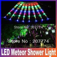 2014 NEW 8pcs/set Holiday sale LED Meteor Shower Light Christmas LED Icicle Light blue white change color 230V 50cm promotion