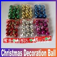 2014 New Christmas decoration Santa christmas ball Small christmas tree hangings 3cm light plating ball Free Shipping