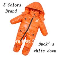 Brand Baby Down coat Rompers One piece 90% Duck's down Layette Thickening Warm Children Down jacket Winter Costume