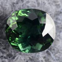 Natural green tourmaline luo dan ring surface ring fashion male Women girlfriend gifts charm