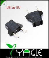 New 50pcs/ lot US to EU AC Power Plug Travel Converter Adapter
