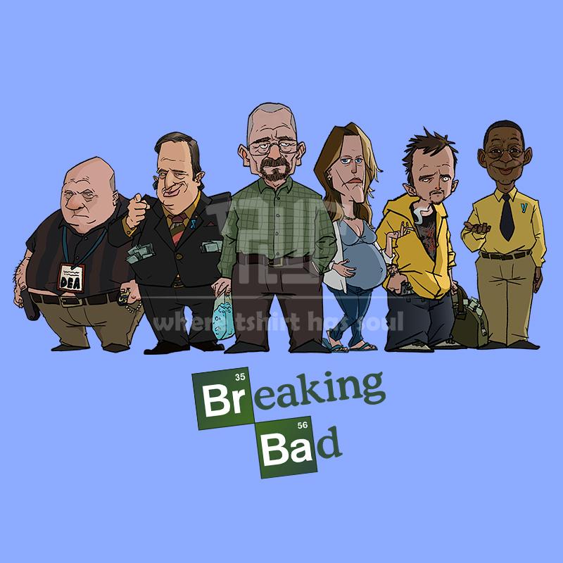 Breaking Bad Cartoons Breaking Bad Cartoon Chibi Tee
