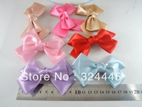Wholesale - 50pcs/lot,  Free shipping Baby ribbon bows with clip,grosgrain hairclips,Hairclips,Girls' hair accessorie