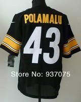 Free shipping Embroidery logos,Men's elite American Football Jerseys,Wholesale Original quality #43 troy polamalu jersey